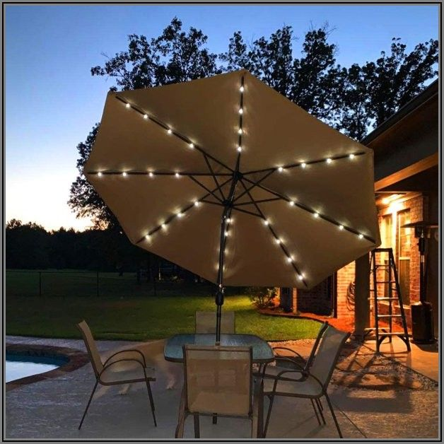 Best Patio Umbrella With Led Lights