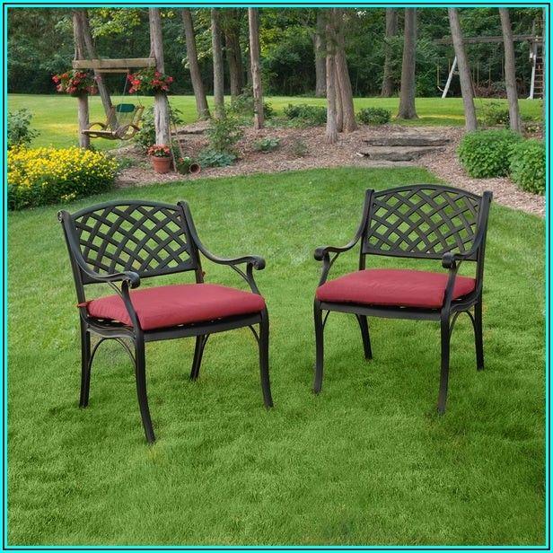 Black Aluminum Patio Dining Chairs