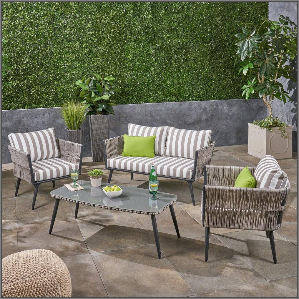 Black And Gray Patio Set
