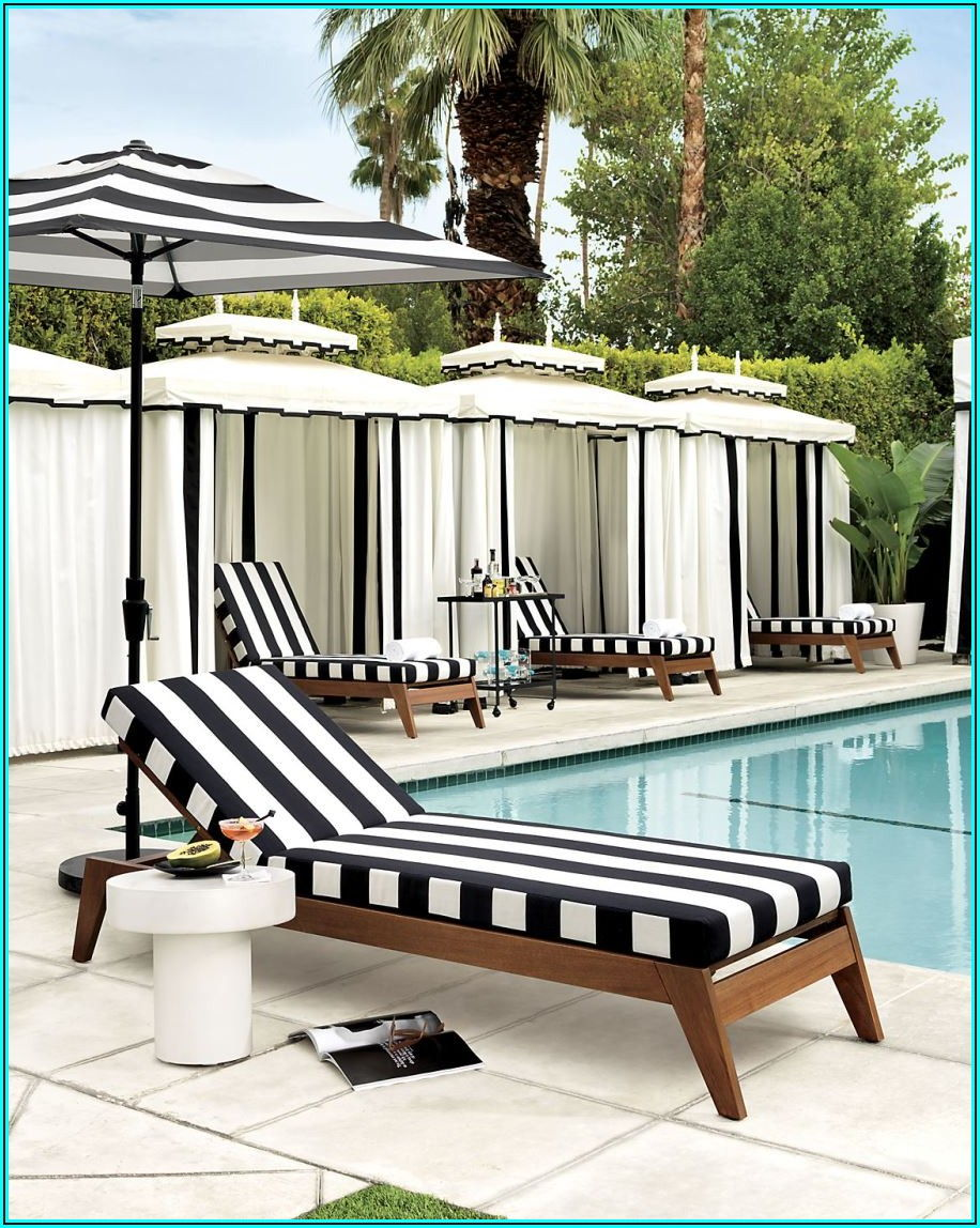 Black And White Stripe Patio Cushions