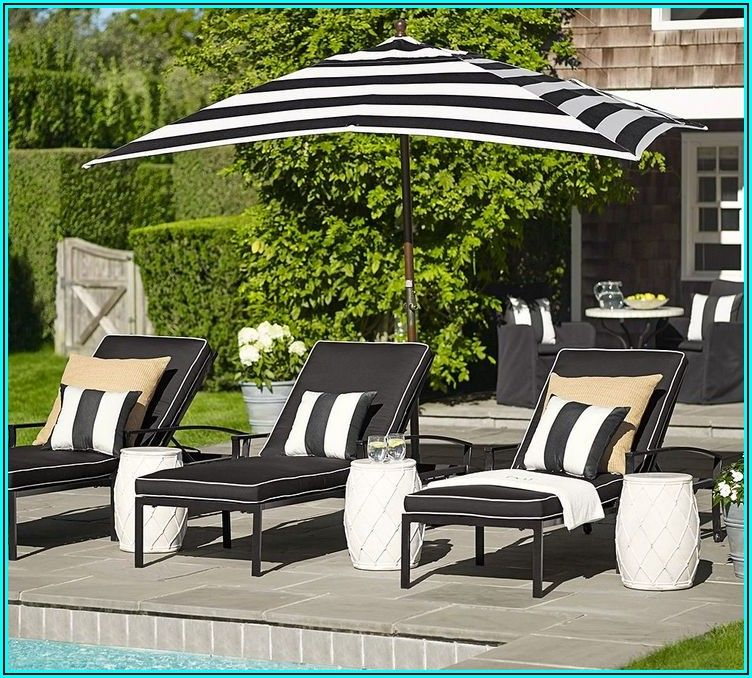 Black And White Stripe Patio Furniture