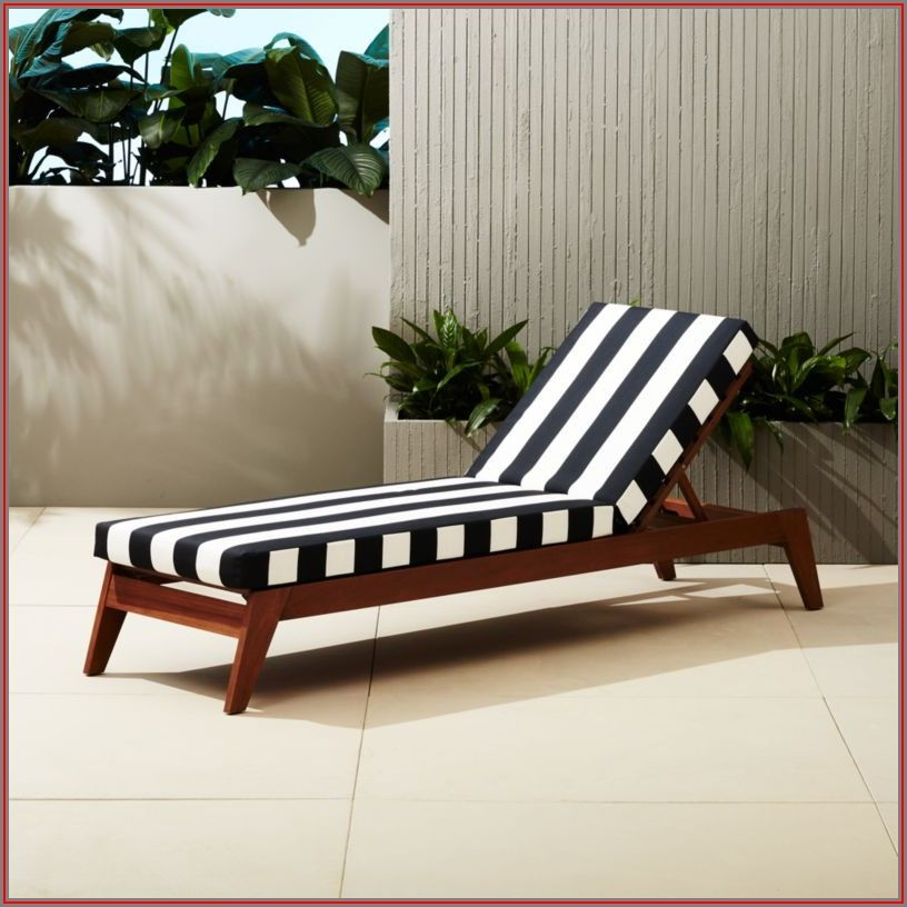 Black And White Striped Patio Chair Cushions