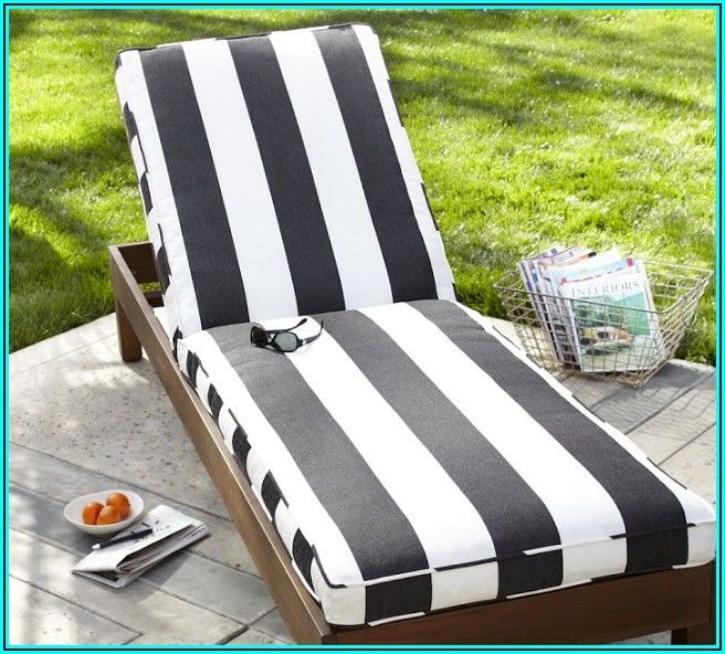 Black And White Striped Patio Pillows