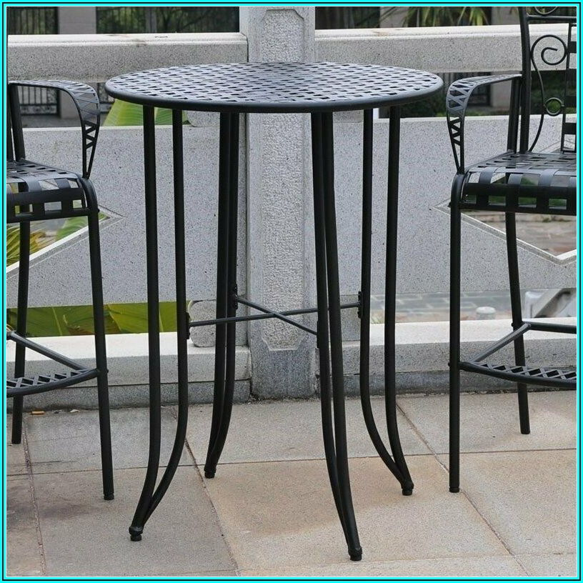Black Bar Height Patio Table