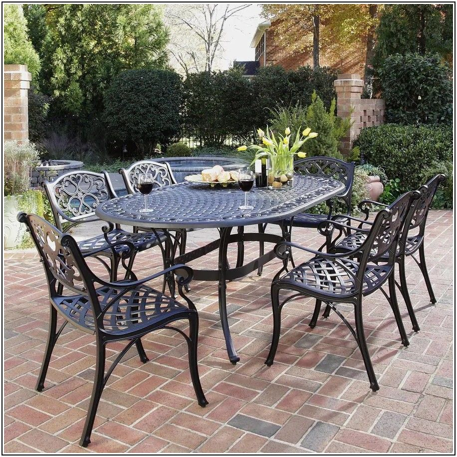 Black Cast Aluminum Patio Furniture