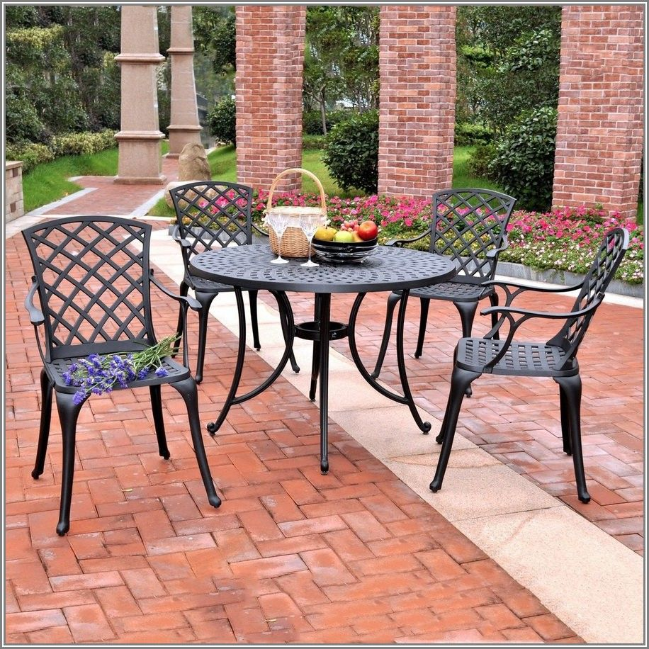 Black Cast Aluminum Patio Set