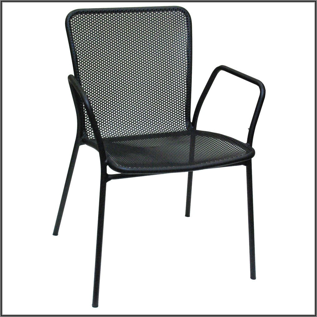 Black Mesh Patio Chairs