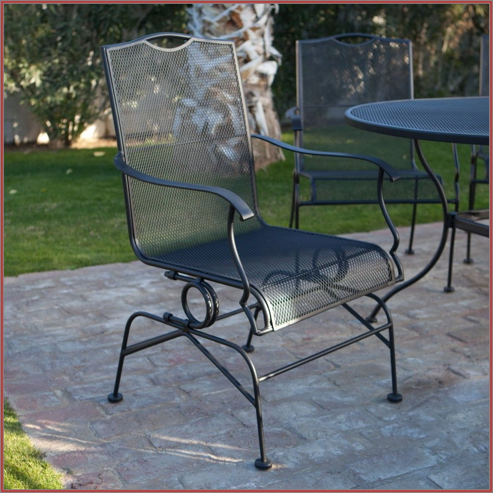 Black Metal Mesh Patio Furniture