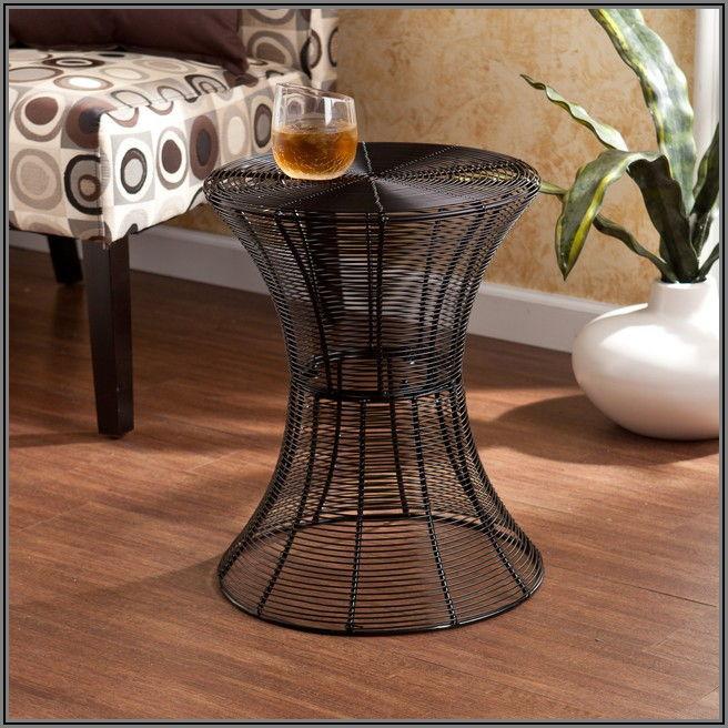 Black Patio Accent Table