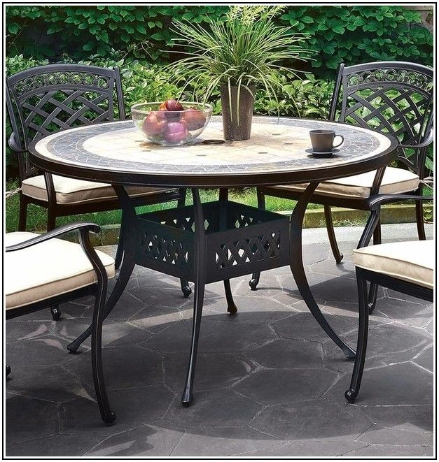 Black Round Patio Table Cover