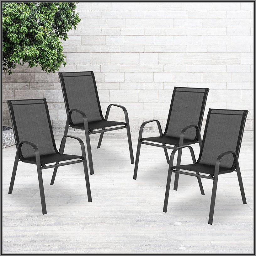Black Stacking Patio Chairs