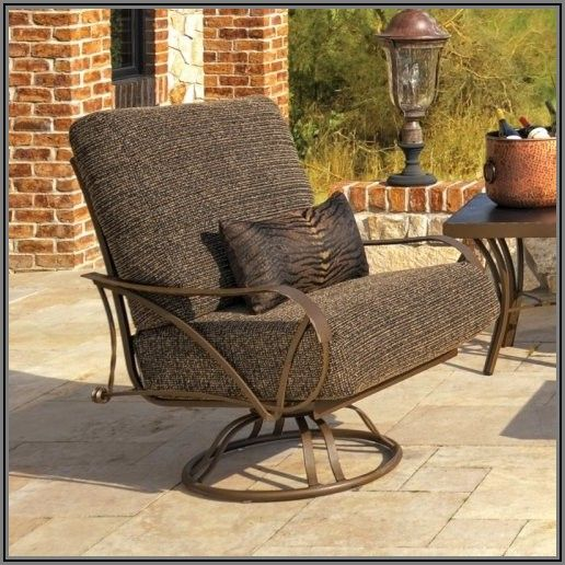 Black Swivel Rocker Patio Chairs
