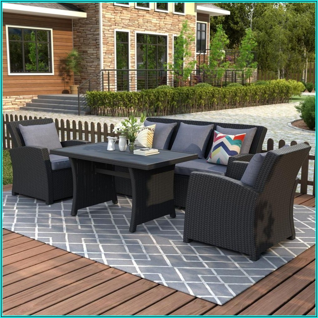 Black Wicker Patio Furniture Walmart