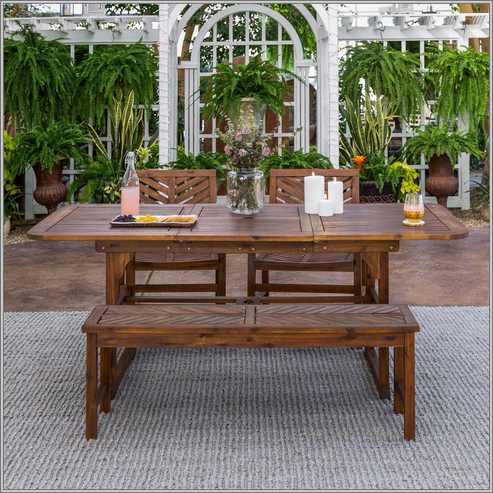 Black Wood Patio Furniture