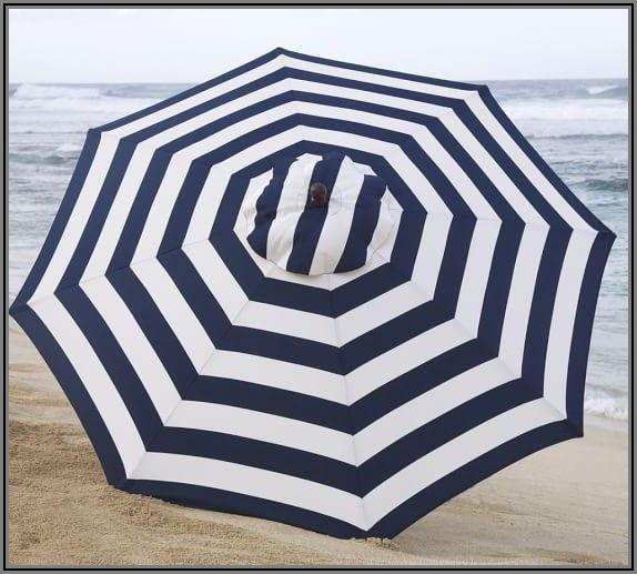 Blue And White Patio Umbrella