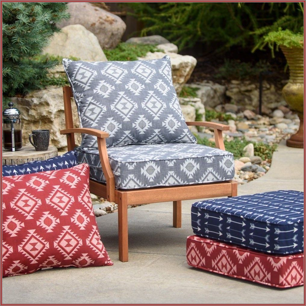 Blue Deep Seat Patio Cushions