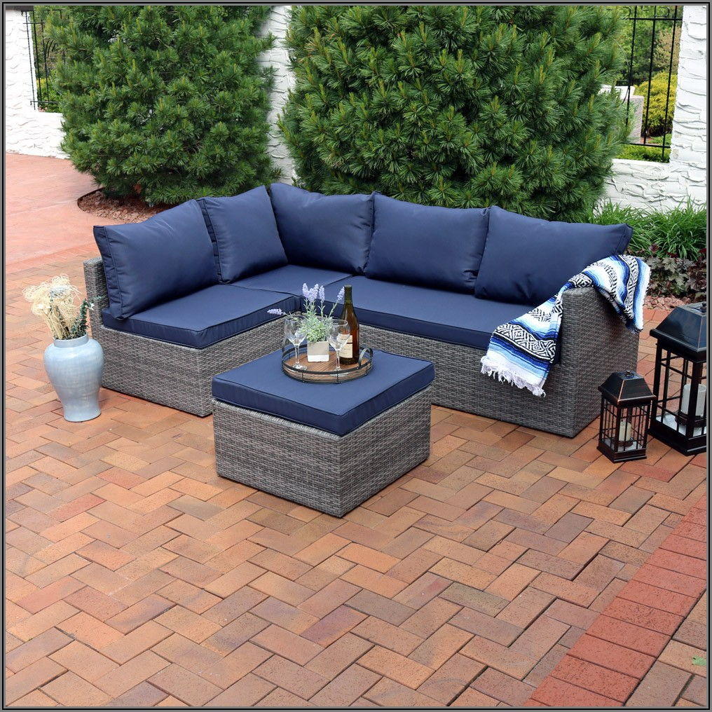 Blue Sectional Patio Furniture