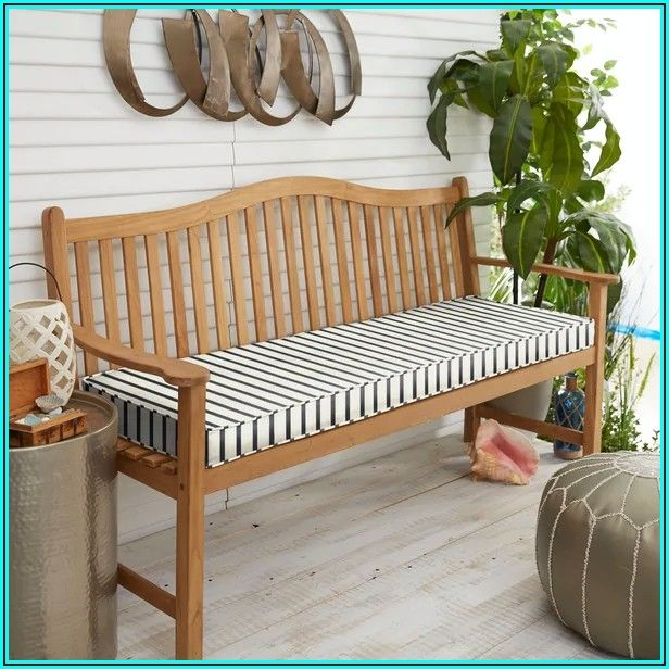 Blue Striped Patio Cushions