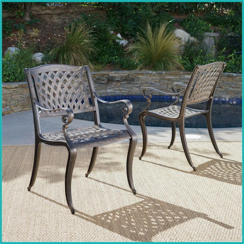 Bronze Patio Dining Chairs