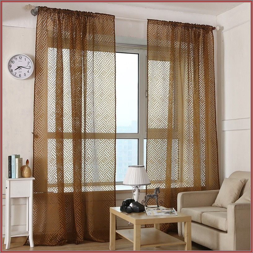 Brown Patio Door Curtains