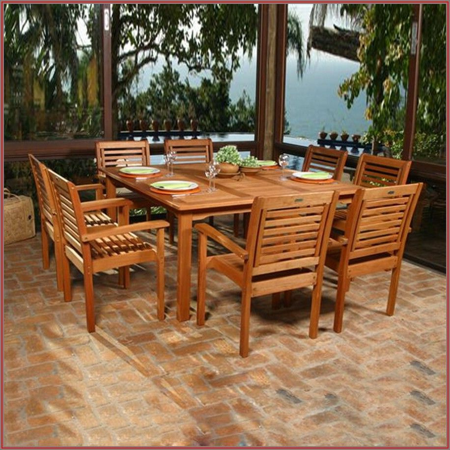 Brown Patio Table And Chairs