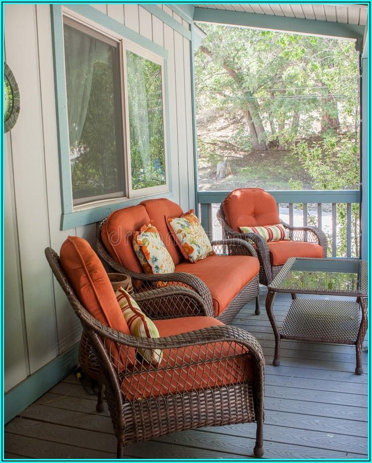 Burnt Orange Patio Cushions