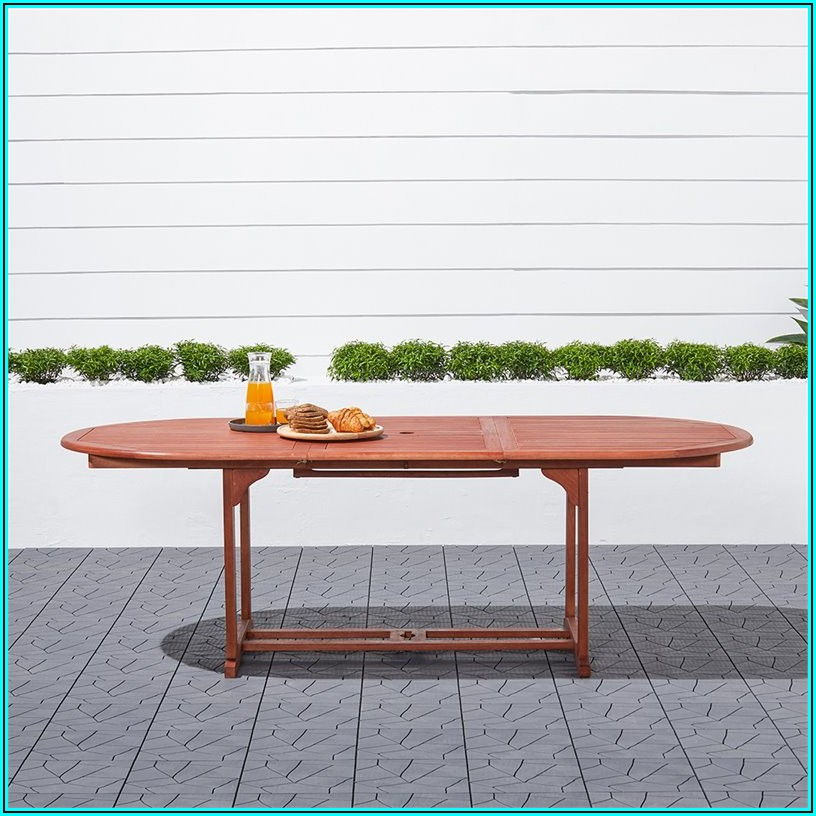 Butterfly Extension Patio Dining Table