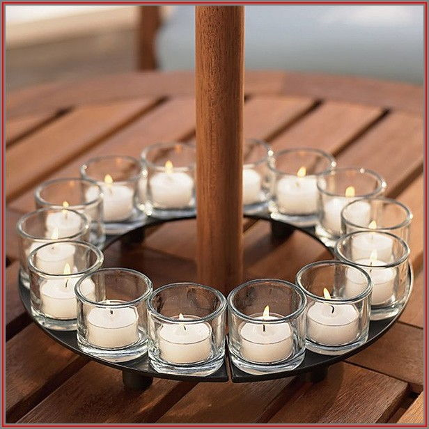 Candle Holder For Umbrella Patio Table