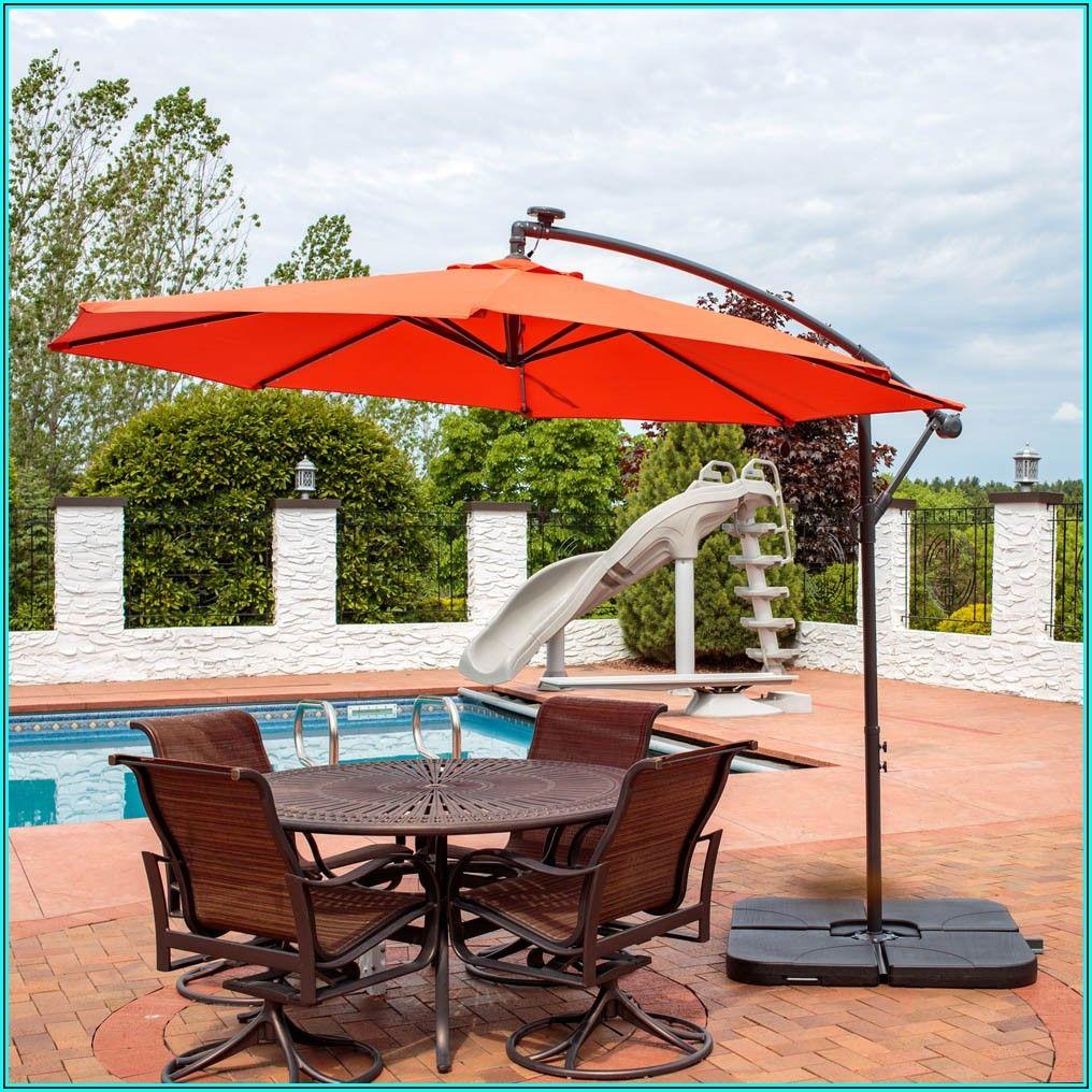 Cantilever Solar Led Offset Patio Umbrella