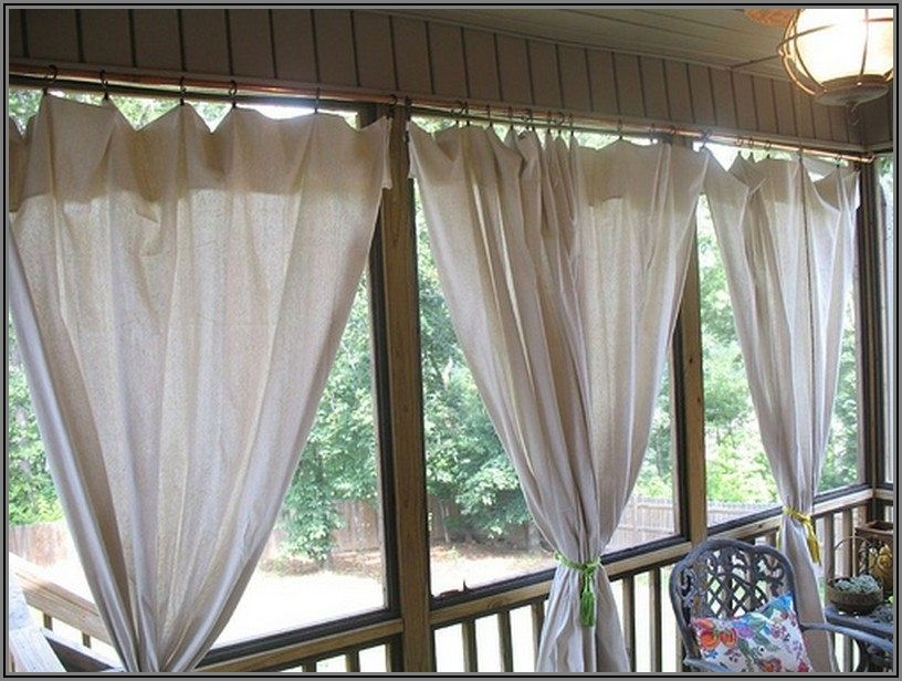 Canvas Drop Cloth Curtains For Patio