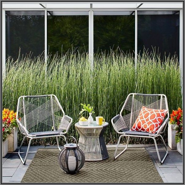 Carag 3pc Sling Rope Patio Chat Set