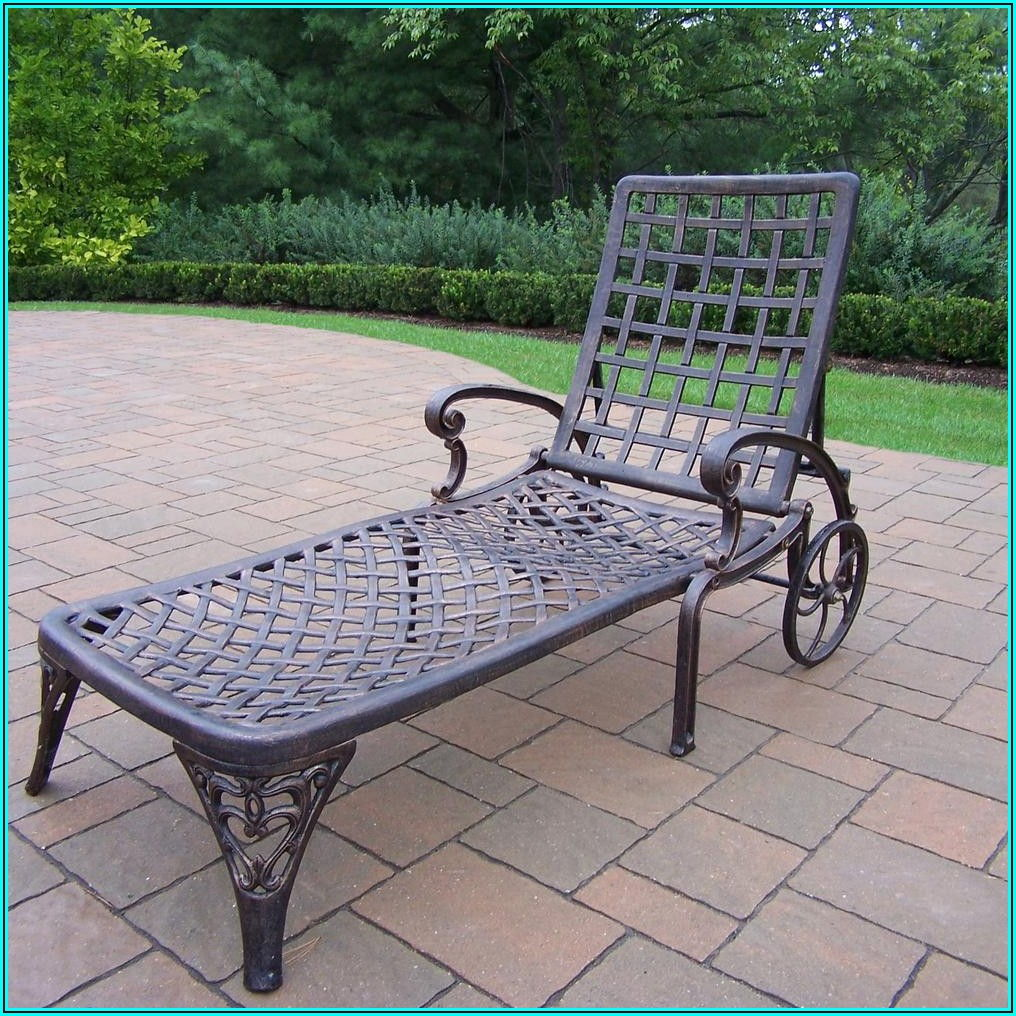 Cast Aluminum Patio Chaise Lounge