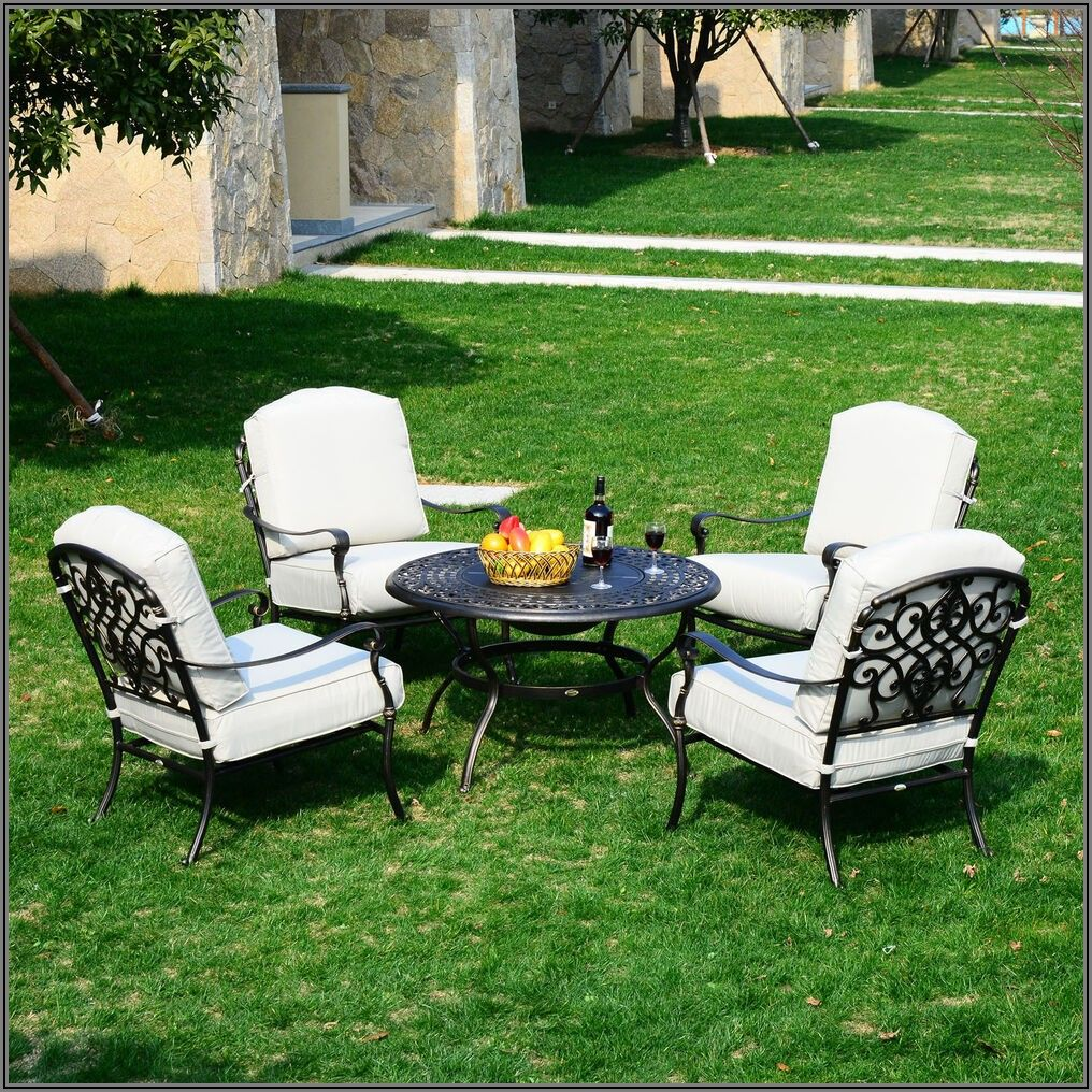Cast Aluminum Patio Furniture With Fire Pit