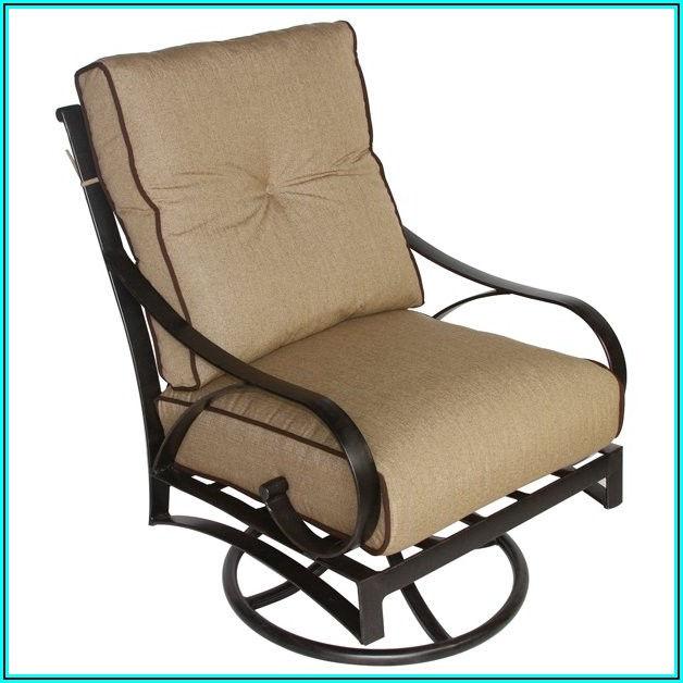 Cast Aluminum Patio Swivel Chairs