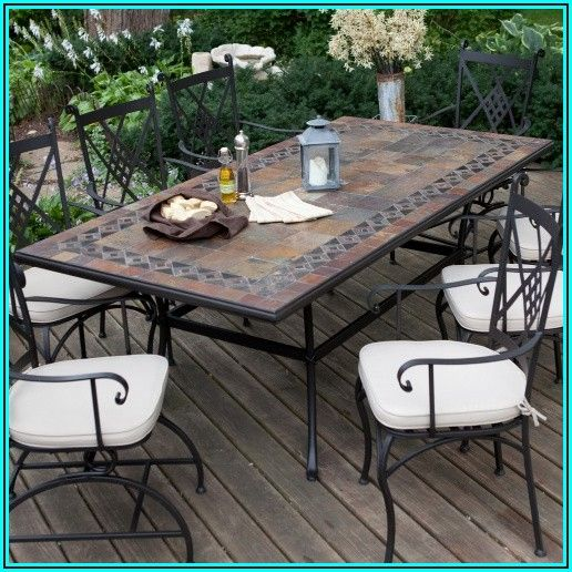 Ceramic Tile Patio Dining Table