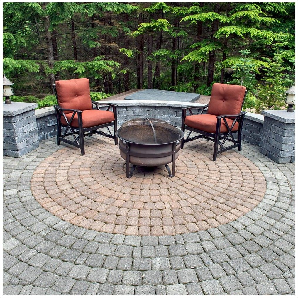Circular Patio Paver Kits Home Depot