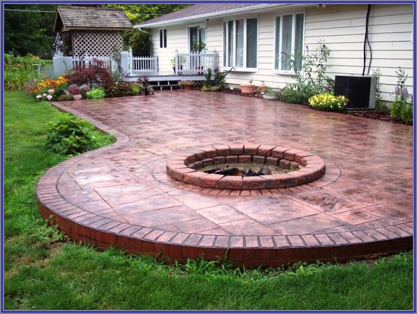 Concrete Patio Shapes Ideas