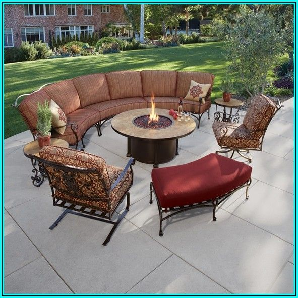 Curved Patio Furniture With Fire Pit