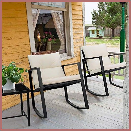 Devoko Patio Porch Furniture Sets 3 Pieces