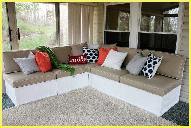 Diy Patio Sectional With Storage