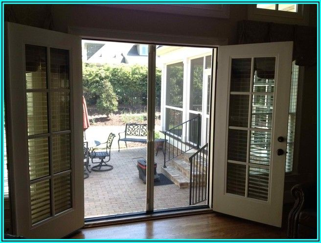 Double French Patio Doors With Screens