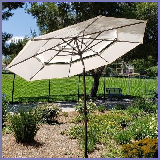 Double Vented Patio Umbrella