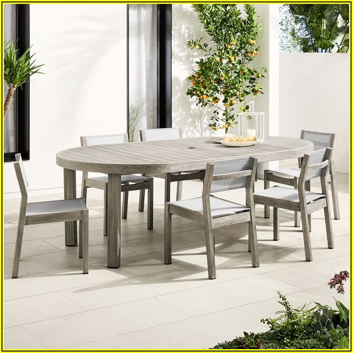 Expandable Round Patio Table