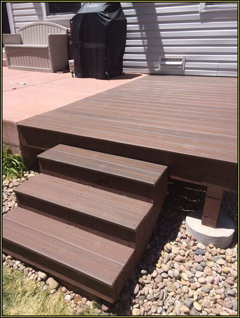Extend Concrete Patio With Wood Deck