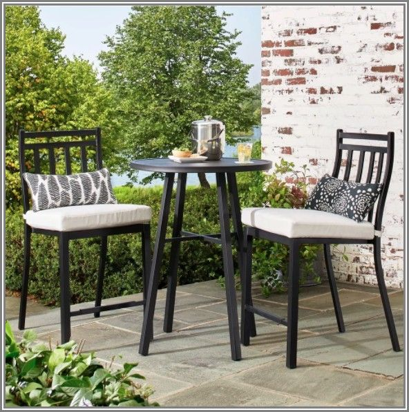Fairmont 3 Piece Steel Patio Bistro Set