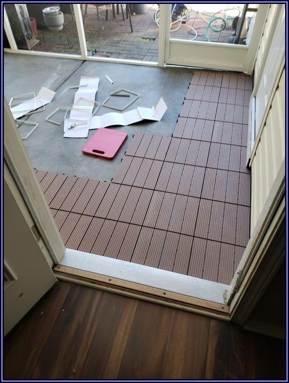 Faux Wood Interlocking Deck Patio Tiles