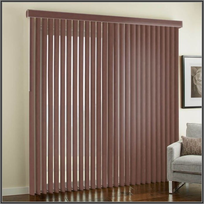Faux Wood Vertical Patio Blinds