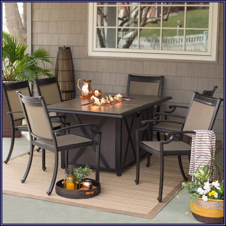 Fire Pit Table Patio Set