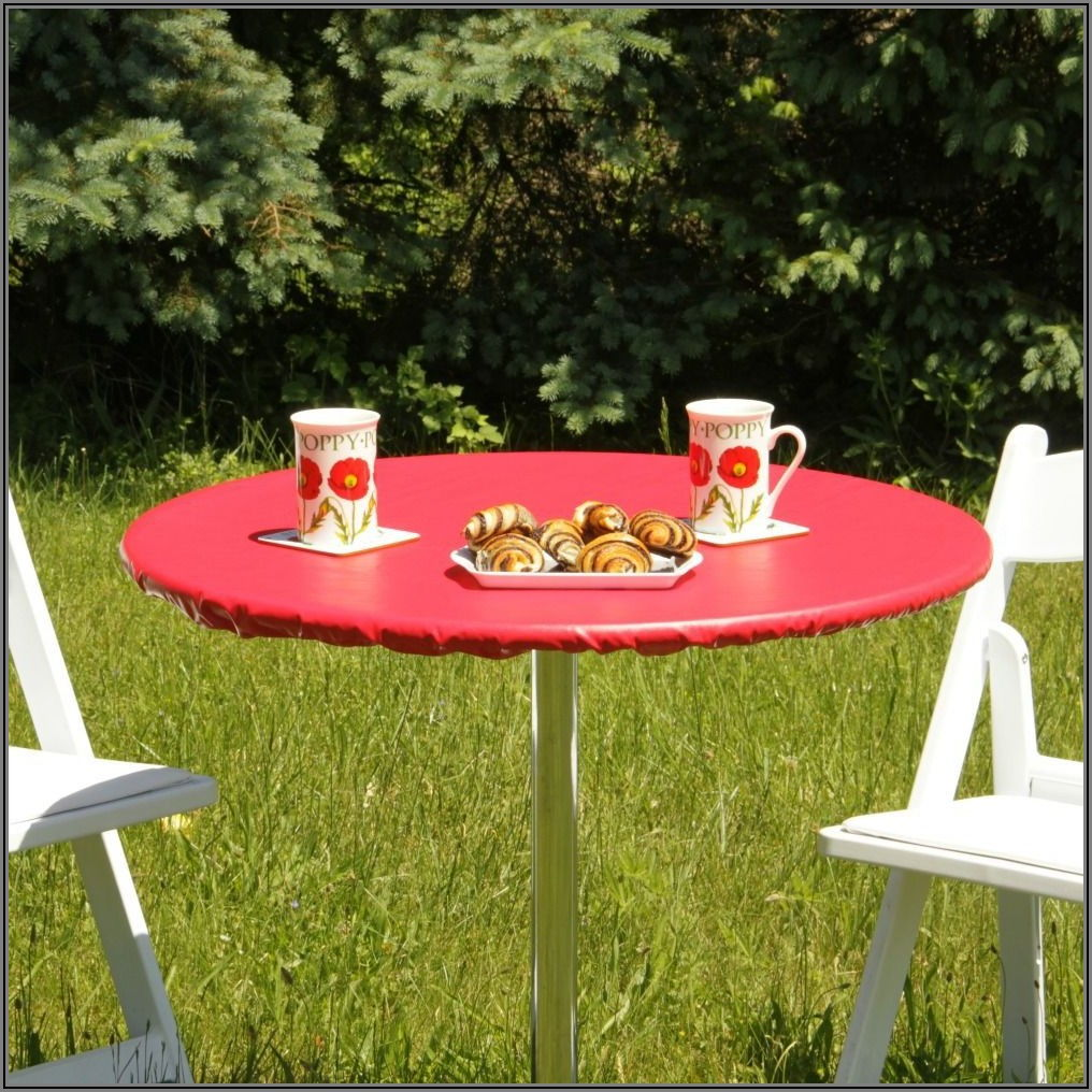 Fitted Round Patio Tablecloth