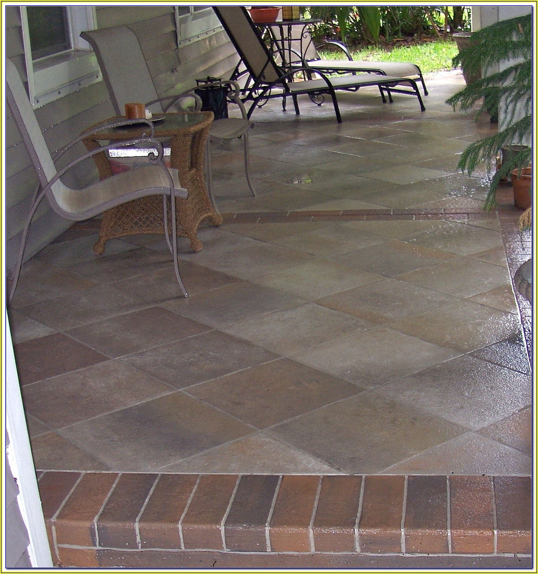Flooring Outdoor Patio Tiles Over Concrete